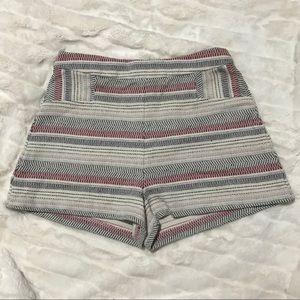 BCBG High Waisted Woven Knit Shorts -8